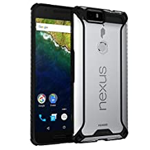 Nexus 6P Case, POETIC Affinity Series Premium Thin/No Bulk/ protection where its needed/Clear/Dual material Protective Bumper Case for Huawei Nexus 6P (2015) Black/Clear