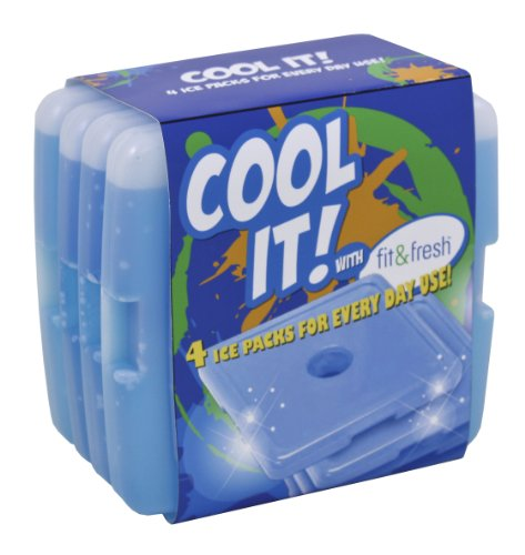 Fit & frais Coolers frais Slim déjeuner packs de glace - Ensemble de 4
