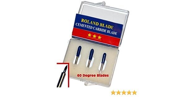 Roland – Cuchillas de corte de 60 grados, carburo cementadas ...