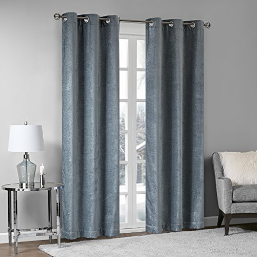 Home Essence Valor Textured Chenille Window Curtain Pair