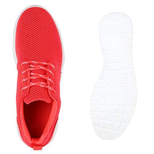 Damen Trainers Muster Herren Sportschuhe Profilsohle Metallic Unisex Laufschuhe Freizeitschuhe Runners Glitzer Flandell Coral