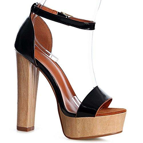 topschuhe24 - Sandalias de vestir de otros para mujer, color azul, talla 39 EU