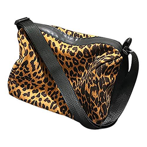 Pengy Ladies Handbags Leopard Comfy Cotton Shopper Tote Girls Shoulder Handbags Large Shopping Bag