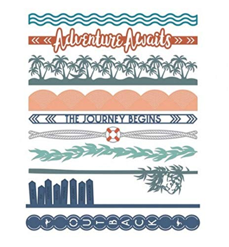 Travel Ocean Waves & Outdoors Walkabout Laser Cut Border Embellishments 12