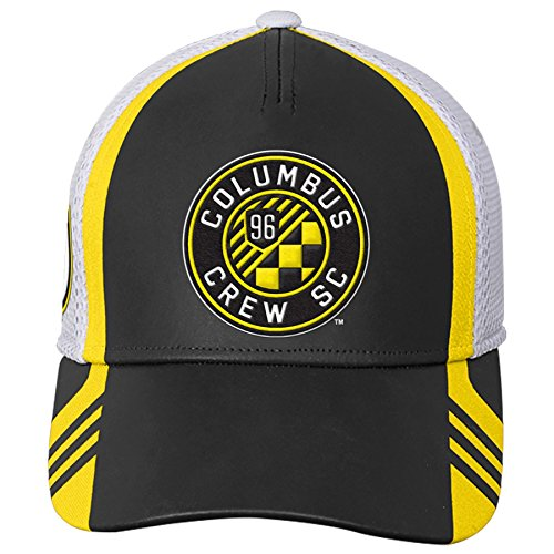 (Outerstuff MLS Columbus Crew Boys Structured Flex Hat, Sun, One Size (8))