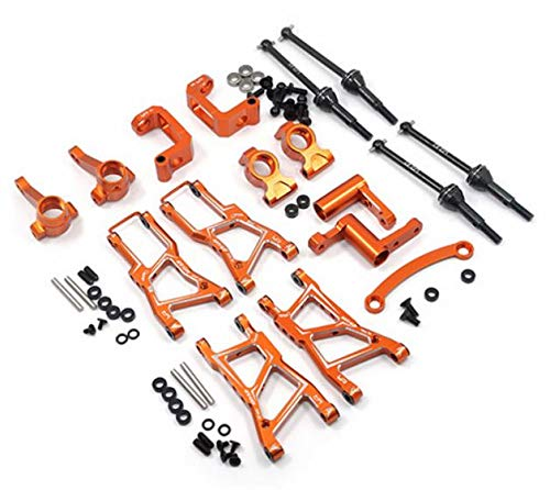 - Yeah Racing Aluminum Essential Conversion Kit For HPI RS4 Sport 3 Orange #RSS3-S01OR
