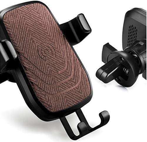車の無線充満携帯電話のホールダー、車の空気出口の無線充満携帯電話のホールダー (色 : Brown)