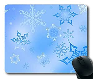 Snowflakes Easter Thanksgiving Personlized Masterpiece Limited Design Oblong Mouse Pad by Cases & Mousepads