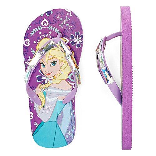 Disney - Girls - Frozen Anna and Elsa - Flip Flops Purple 2/