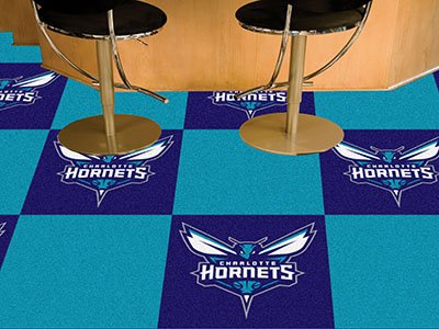 Fan Mats Charlotte Bobcats Carpet Tiles,18'' x 18'' Tiles