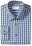 Robert Graham Men's Kade Regular Fit Check Dress Shirt, Blue, 18.5'' Neck 36.5'' Sleeve