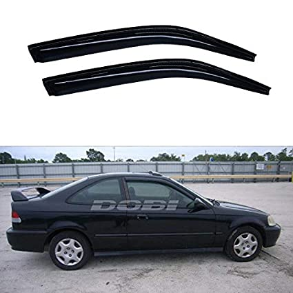 Window Visor Deflector Vent Shade Guard Visors fit 1996-2000 Honda Civic Coupe