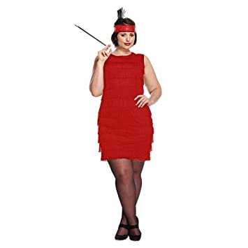 Robe charleston rouge grande taille