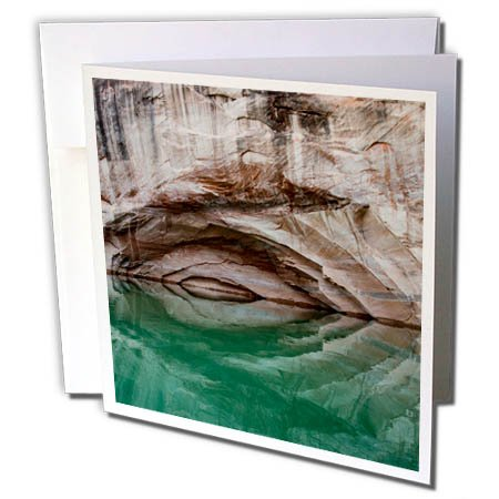 3dRose Danita Delimont - Patterns - Usa, Utah, Glen Canyon NRA. Arch in canyon wall reflect on Lake Powell - 6 Greeting Cards with envelopes (Utah Pattern)