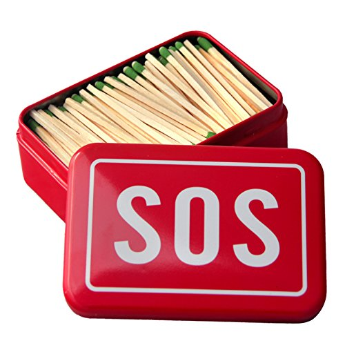 Matches Strike Almost Anywhere in Vintage Style Tin Container Steve Kaeser Since 1989 (SOS)