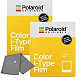 Photo : Polaroid Originals Instant Color Film for i-Type Cameras 2 Pack, 16 Instant Photos Bundle with a Lumintrail Cleaning Cloth