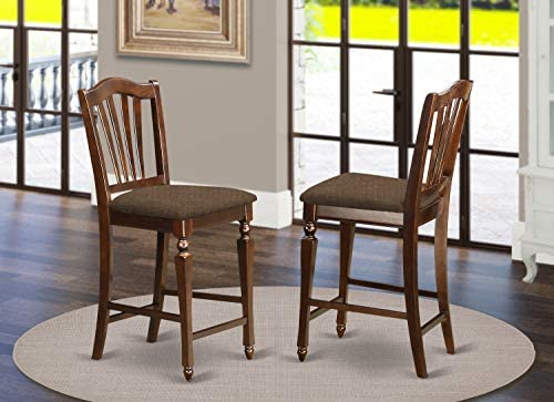 East-West Furniture CHS-MAH-C Counter height chair