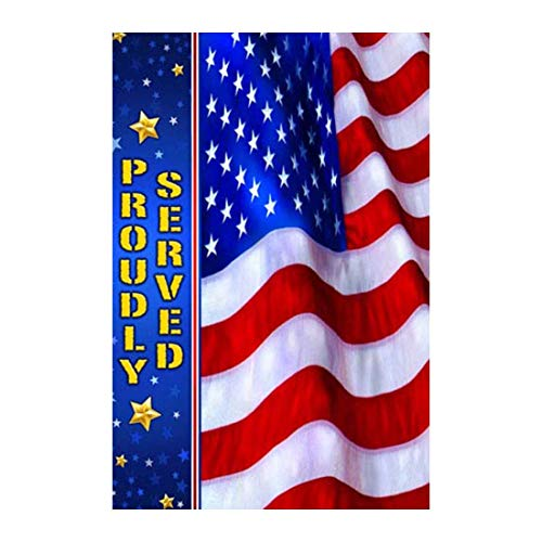 (field tree Memorial Day House Flag |Proudly Served Outdoors Flags of Double Sided Waterproof and Fade Resistant Printed Banners 12.5 X 18 Inch 100%)