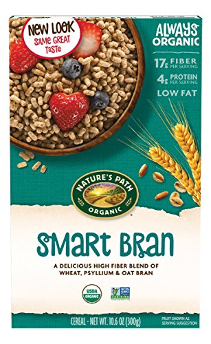 Wheat Bran Cereal - Nature's Path Organic Cereal, Smart Bran with Psyllium & Oatbran, 10.6 Ounce Box (Pack of 6)