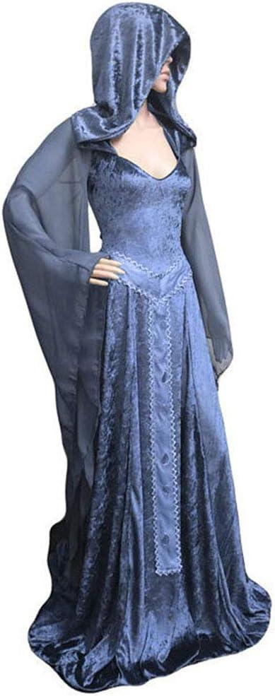 CAGYMJ Dress Party Mujer Vestido,Cosplay Medieval Retro ...