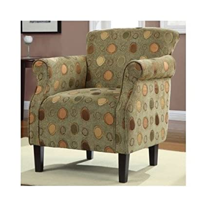 Amazon Living Room Furniture Accent Chair Green With Brown