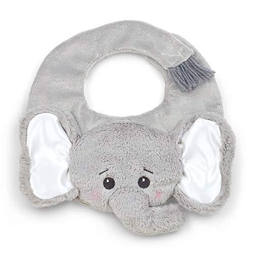 Bearington Baby Lil' Spout Gray Elephant Bib, 10