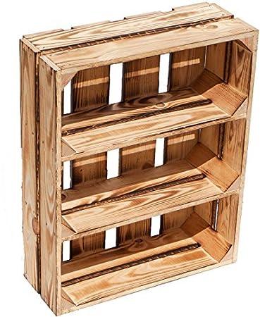 flamm/é support Caisse de fruits Wilma avec deux /étag/ères//entre les planches de surf Environ 50/x 40/x 16/cm///étag/ère Bo/îte /à /épices Apple Box//bo/îte /à vin Bois dense Flame