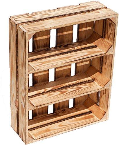 """Caja de contrachapado soporte de frutas """"Wilma – con dos estantes/Entre las"""