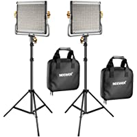 2 Packs Neewer 480 LED Video Light and Stand Lighting Kit