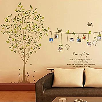 Anself Tree Photo Frame Bird Removable Wall Sticker Decal Art DIY Home Decor Stickers