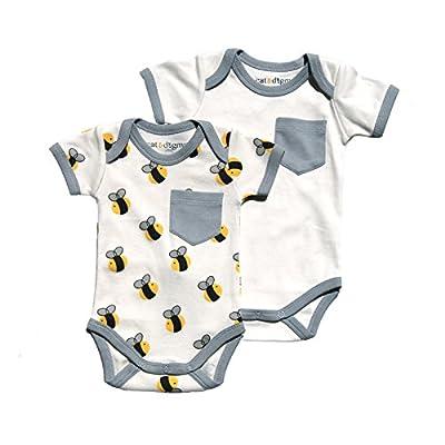 "Organic Bodysuit 2 Pack ""Bee"" Print 0-3 mo"