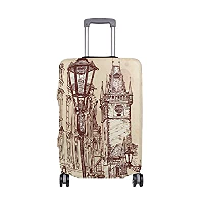 LEISISI Lotus Flower Luggage Cover Elastic Protector Fits XL 29-32 in Suitcase