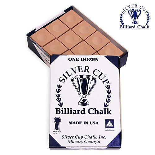 Silver Cup One Dozen Tan Pool Cue Chalk