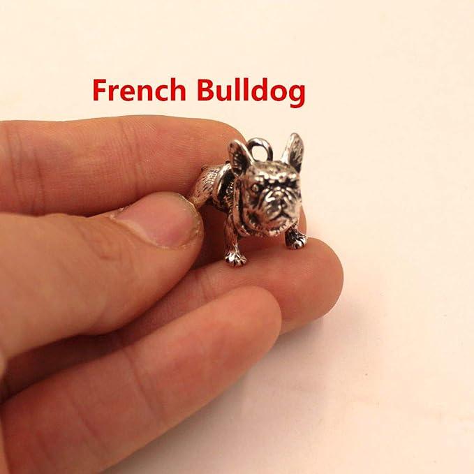 Amazon.com: Mct12-1 - Llavero con colgante de perro bulldog ...