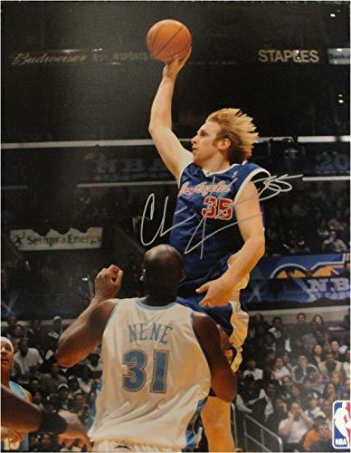 Signed Chris Kaman Photograph - 16x20 Shooting Dunk - Autographed NBA Photos