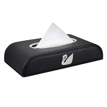 Portarrollos de papel Caja De Pañuelos Caja De Almacenamiento Estante Estante Cisne Montado En Diamante Caja