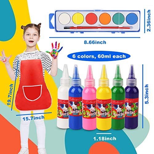3 otters Toddler Paint Set, 21pcs Paint Tools for Kids Washable Paint Set Painting Brushes Kids Early Learning Paint Set Finger Painting Art Supplies