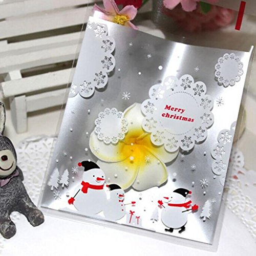 Lavender Hill Floral (100Pcs/Lot Silver Lace Cookies Biscuit Candy Snowflake Snowman Christmas Gifts Bag Holders Bake Gift Bag)
