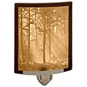Woodland Sunbeams- Fine Porcelain Lithophane Curved Night Light