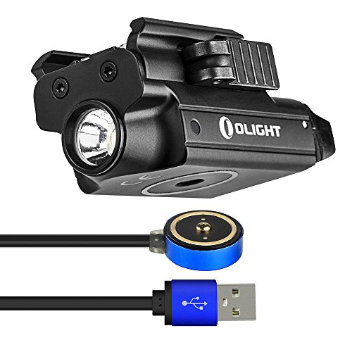 OLIGHT PL-Mini Valkyrie 400 Lumens Rechargeable Pistol Light with Cree LED and Magnetic USB Charger, Bundle GrapheneFast Battery Case by OLIGHT (Image #5)