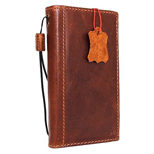 Genuine Real Leather Case for Samsung Galaxy S6 Edge Plus Book Wallet Handmade cover Retro Slim Luxury Daviscase