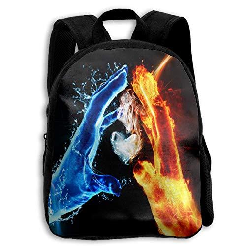 DKFDS Backpacks School Season Kids Backpack Bookbag,Child Bird Ice Vs Fire Shoulder Bag ()