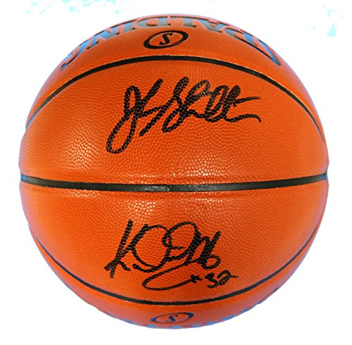 John Stockton and Karl Malone Utah Jazz Signed Autographed Spalding NBA Game Replica Basketball PAAS COA Spalding Autograph
