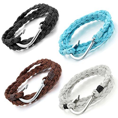 Flongo Womens Biker Nautical Bracelet