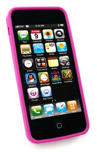 Emartbuy ® Apple Iphone 5 Polka Dots Gel Skin Cover / Case Purple / White