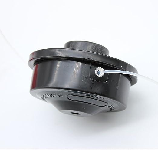 3 x cabezales dobles de hilos hilo nailon para desbrozadoras, negro: Amazon.es: Bricolaje y herramientas
