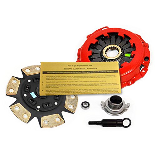EFT 6-PUCK CLUTCH KIT for 02-05 SUBARU IMPREZA WRX AWD TURBO 5-SPEED 2.0L EJ205 - 6 Puck Clutch Kit