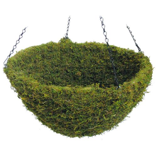 SuperMoss (29309) MossWeave Hanging Basket - Round, Fresh Green, X-Large (20 Diameter