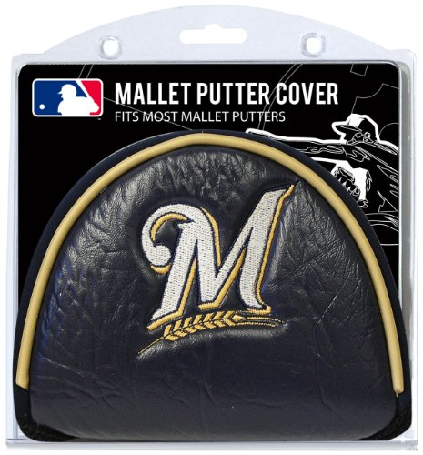 Team Golf MLB Milwaukee Brewers Golf Club Mallet Putter Headcover, Fits Most Mallet Putters, Scotty Cameron, Daddy Long Legs, Taylormade, Odyssey, Titleist, Ping, Callaway (Brewers Milwaukee Rock)