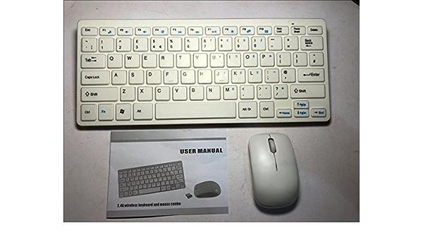 Mini teclado inalámbrico blanco y ratón para Apple Mac Mini ...